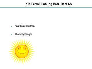 cTc FerroFil AS  og Brdr. Dahl AS