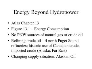 Energy Beyond Hydropower