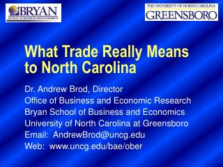 What Trade Really Means to North Carolina