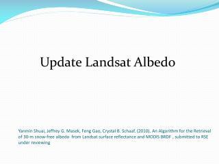 Update Landsat  Albedo
