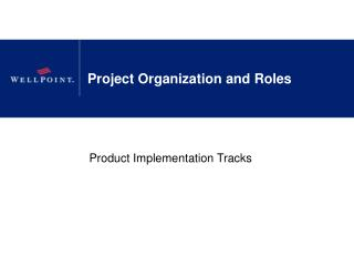 Project Organization and Roles