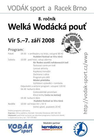 VOD ÁK sport  a  Racek Brno
