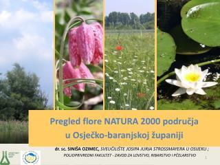 Pregled flore NATURA 2000 područja u Osječko-baranjskoj županiji