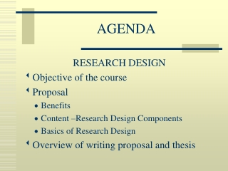 Basics of Research Design