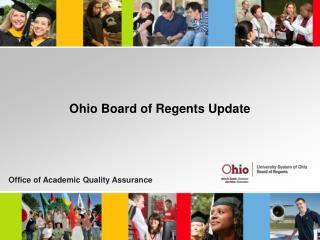 Ohio Board of Regents Update