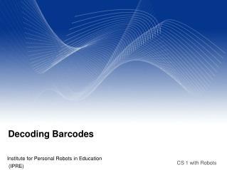 Decoding Barcodes