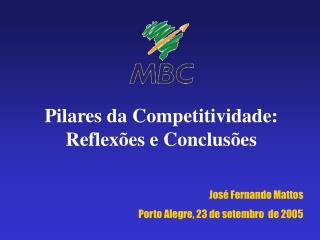 Pilares da Competitividade: Reflexões e Conclusões