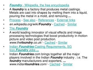 Foundry  - Wikipedia, the free encyclopedia