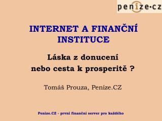 INTERNET A FINANČNÍ INSTITUCE