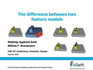 The difference between two feature models