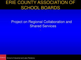 ERIE COUNTY ASSOCIATION OF SCHOOL BOARDS
