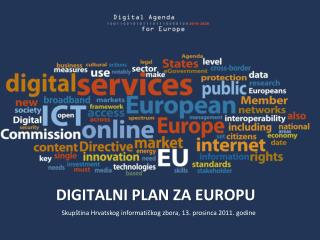 DIGITALNI PLAN ZA EUROPU