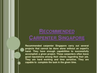 Wardrobe Carpenter Singapore