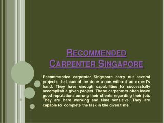 Wardrobe Carpenter Singapore