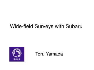 Wide-field Surveys with Subaru