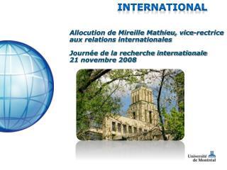 Stratégie d'internationalisation de 2e génération de l'Université de Montréal - Novembre 2006