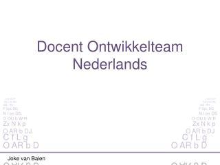 Docent Ontwikkelteam Nederlands