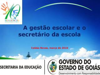 A gestão escolar e o secretário da escola