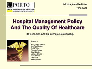 Hospital Management Policy And The Quality Of Healthcare