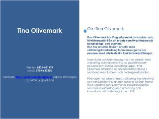 Tina Olivemark