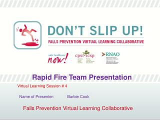 Falls Prevention Virtual Learning Collaborative