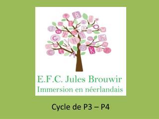 Cycle de P3 – P4