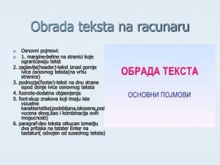 Obrada teksta na racunaru