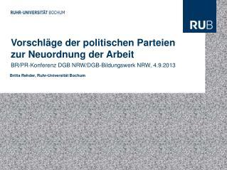 Vorschläge der politischen Parteien zur Neuordnung der Arbeit
