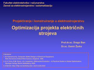 Optimizacija  projekta  elektri?nih strojeva