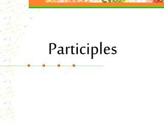 Participles
