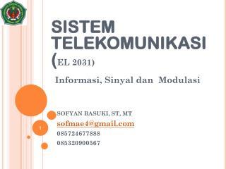 Informasi ,  Sinyal dan Modulasi