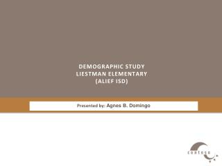 Demographic study Liestman  elementary ( Alief  ISD)