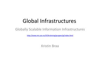 Global Infrastructures