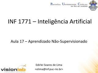 INF 1771 –  Inteligência  Artificial