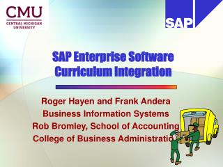 SAP Enterprise Software  Curriculum Integration