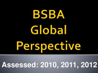 BSBA  Global Perspective