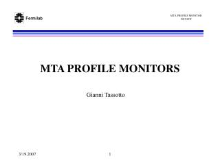 MTA PROFILE MONITORS