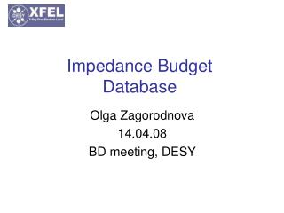 Impedance Budget Database