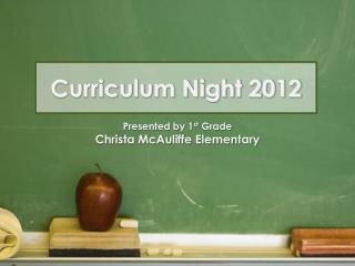 Curriculum Night 2012