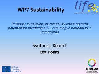 WP7 Sustainability