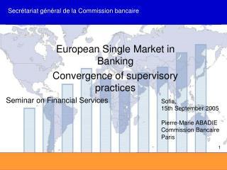 Secr�tariat g�n�ral de la Commission bancaire