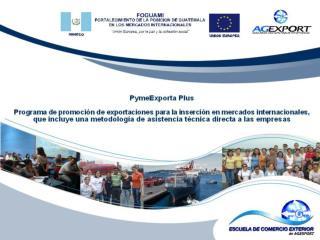 PymeExporta Plus Programa integral de  capacitación, asistencia técnica y acompañamiento