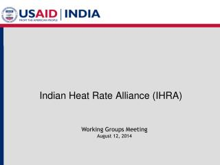 Indian Heat Rate Alliance (IHRA)