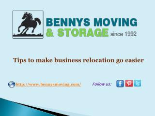 Tips to make business relocation go easier