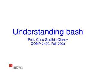 Understanding bash