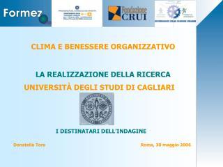 CLIMA E BENESSERE ORGANIZZATIVO