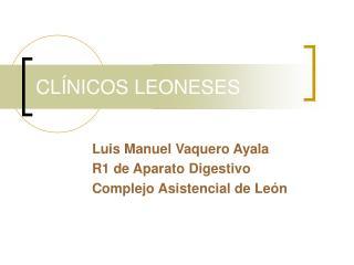 CLÍNICOS LEONESES