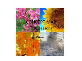 CONCEPT MAP The  Seasons