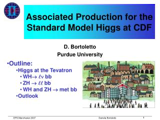 Associated Production for the Standard Model Higgs at CDF