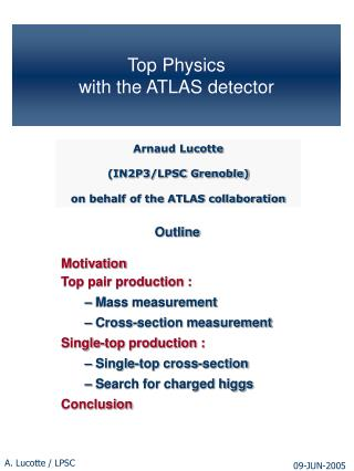 Top Physics  with the ATLAS detector